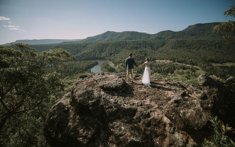 Amelia and Dan Marry at Kangaroo Valley Bush Retreat