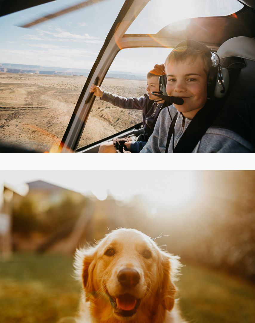 Mark's Family - up in the Grand Canyon and their dog star, Sirius